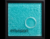 Envision fused glass wall art (framed) - gift for artist, retirement gift, recovery gift, water-inspired art