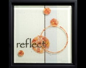 Reflect fused glass wall art (framed) - wedding gift, engagement gift, recovery gift, circle art
