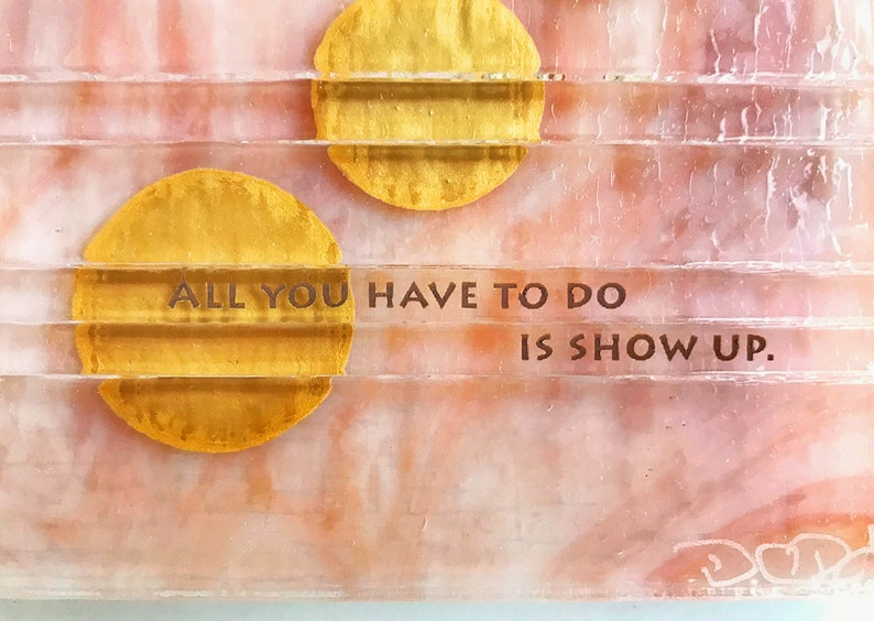 Fused Glass Wall Art: All you have to do is show image 1