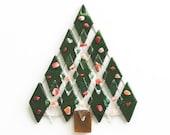 Fused Glass Christmas Tree Ornament Suncatcher - teacher gift, office gift, christmas decoration, grandma gift, candy cane, christmas gift