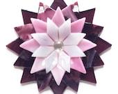 Fused Glass Dahlia Ornament/Suncatcher - gardener gift, teacher gift, fused glass flower, christmas ornament, grandma gift, birthday gift