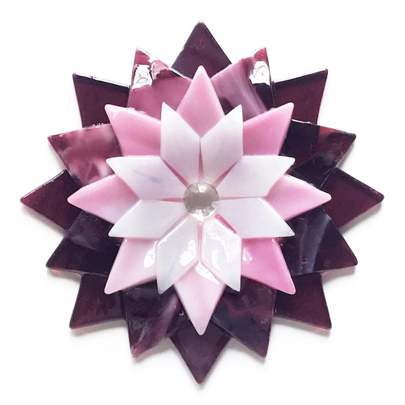Fused Glass Dahlia Ornament/Suncatcher  gardener gift image 1
