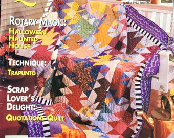 American Patchwork & Quilting magazine - October 1993, Issue 4 BHG