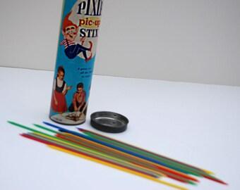Vintage Pixie Sticks Game Pic-Up Toy Original Can Mic Century 50s 60s Retro Fun