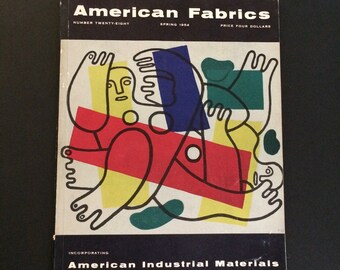 Vintage American Fabrics Magazine Spring 1954 With Actual Swatches Fun Advertising Fab Fifties Reference Mid Century Modern Fashion Trends