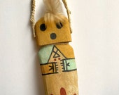 Hopi Kachina Doll Katsina Hand Carved Native American Cradle Crib Toy Collectible Wood Wooden Indian Southwestern US West Decor Wall Hanging
