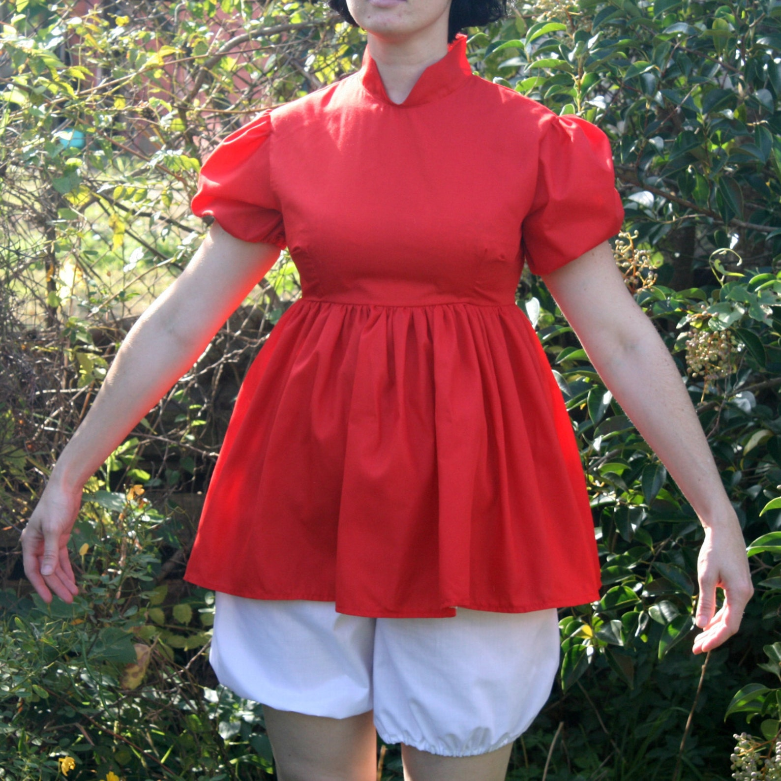 Adult Ponyo Cosplay Costume - Dress and Bloomers