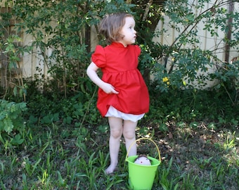 Ponyo Cosplay Costume - Dress and Bloomers Size 6-12