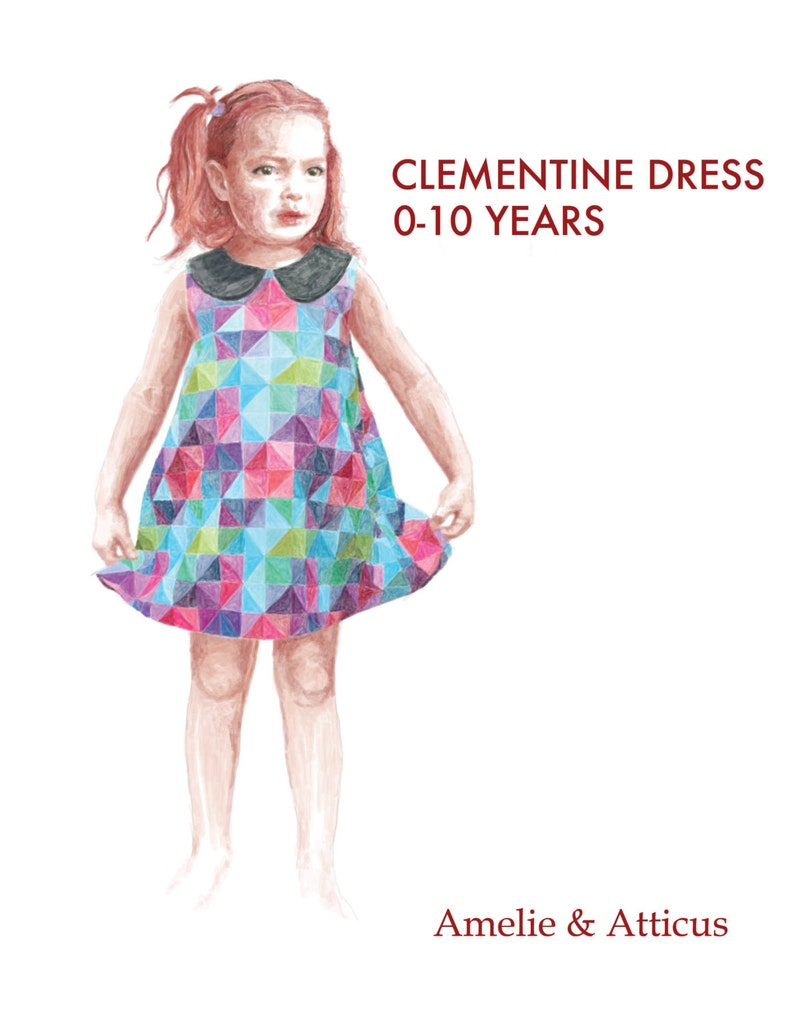 The Clementine Dress PDF Sewing Pattern: Peter Pan Collar image 0