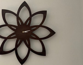 Sunburst Clock - Mid Century Modern Inspired Wall Clock