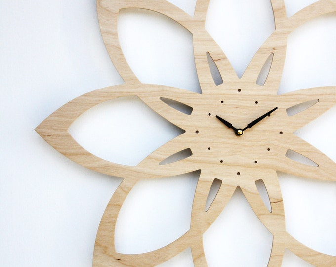 Sunburst Clock - Mid Century Modern Inspired Wall Clock