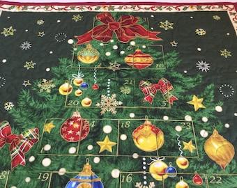 Christmas Advent Calendar, Christmas Tree Calendar, Christmas Countdown Advent Calendar, Heirloom Christmas, Traditional Christmas Decor