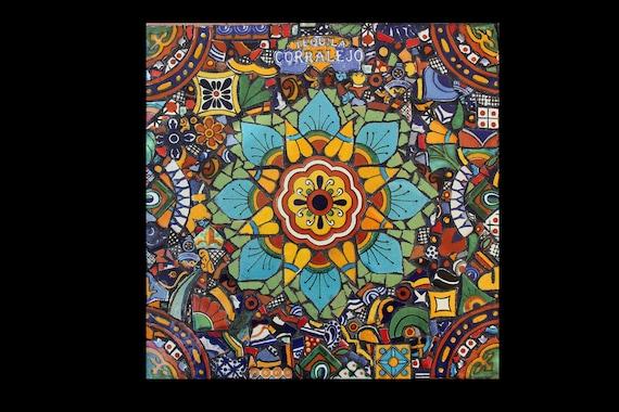 Mosaic Southwestern Wall Art Made with Talavera Tiles Ready to Ship