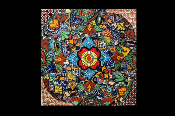 Mosaic Wall Art Made with Talavera Tiles
