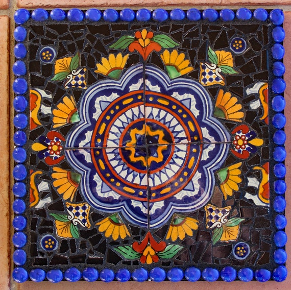 Mosaic Southwestern Wall Art Made with Talavera Tiles
