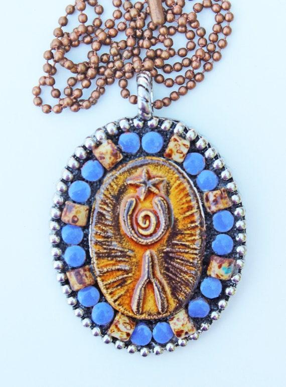 Star Gazer Mosaic Pendant Necklace