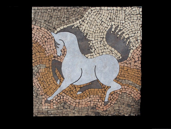 Western Southwestern Mosaic Horse Wall Hanging Decor