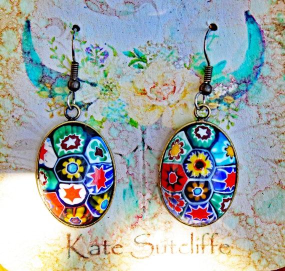 Murano Millefiori Earrings