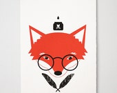 Silkscreened Mr. Fox Poster - Limited Edition of 25