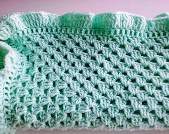 Baby Decke Häkeln In Der Farbe Lemon Rüschen Rand Für Ein Etsy