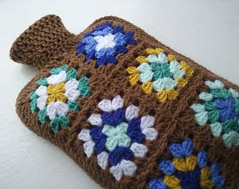 Hot Water Bottle Cover - Cosy in Shades of a golden brown.