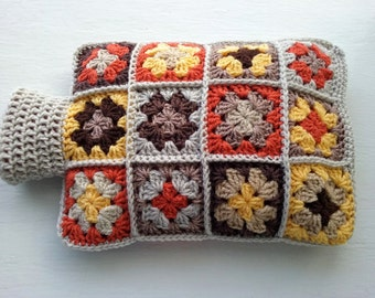 Hot Water Bottle Cover - Cozy in Shades of Autumn Colours