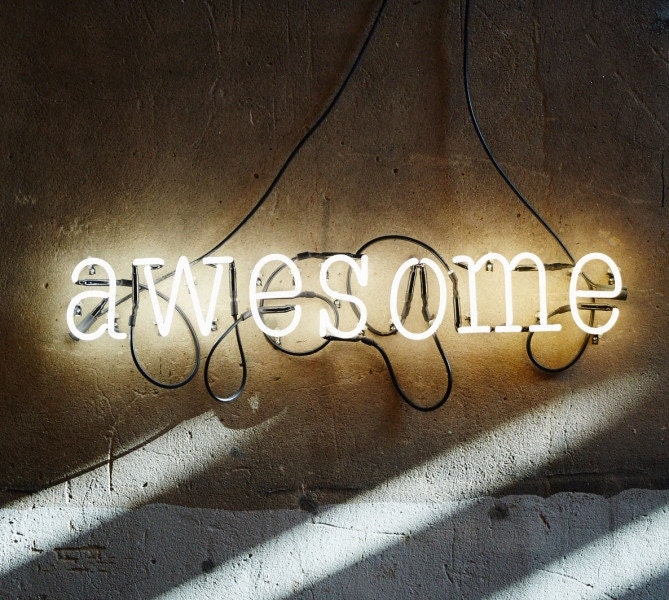 awesome neon sign ready made