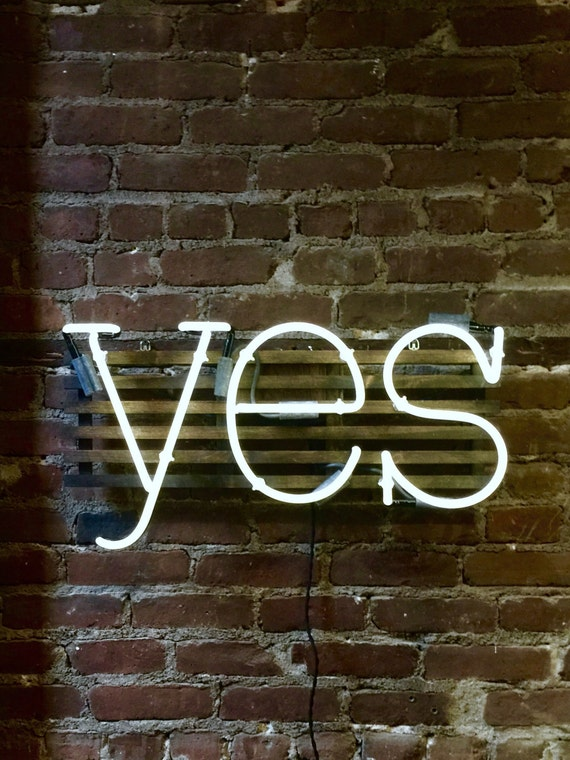 YES Mounted Neon Sign, Ready-made