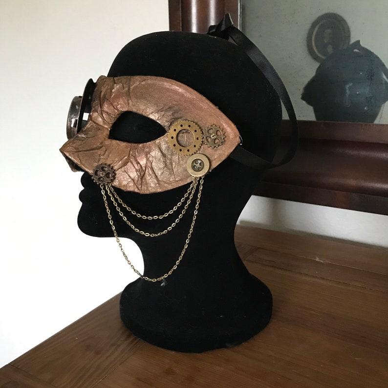 Monocled Steampunk Handmade Mask