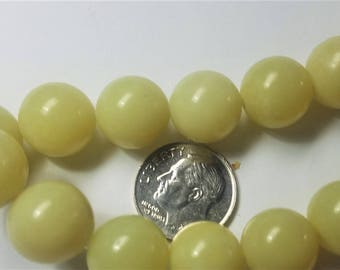 Yellow Agate rounds 10mm