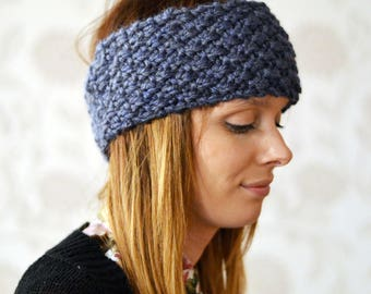 Chunky Knit  Headband, Wide Headband, Earwarmer, 24 Other Colours
