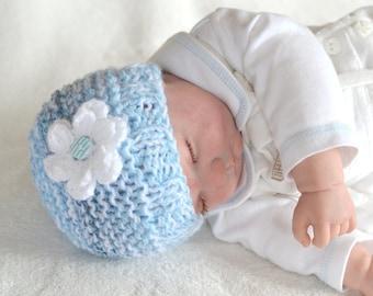 Baby Girls  Hat, Knitted Hat, Winter Hat, Newborn Beanie Hat, Baby Gift,