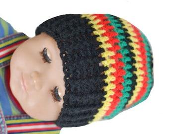 Rasta Beanie Baby Hat, 3-6 Months  Hat, Photo Prop Hat