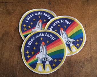 STEM Pride patch - I Ride with Sally!