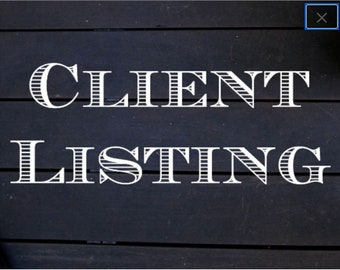 CLIENT LISTING-RUTH