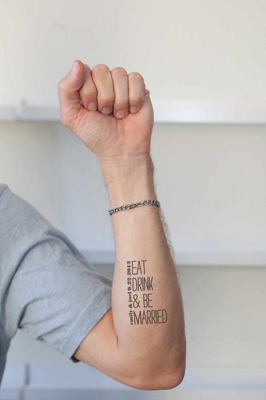 Temporary Henna Tattoos: Getting Married Temporary Custom Tattoos
