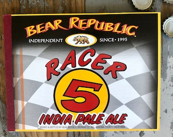 Bear Republic Racer 5 recycled six-pack notebook Craft Beer California journal