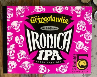 5 Rabbit Cerveceria Ironica IPA Recycled six-pack Notebook Craft Beer Journal