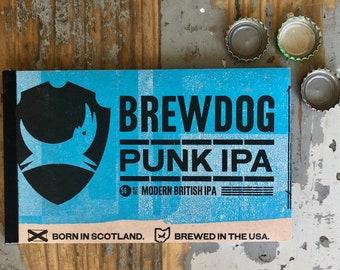 Beer Notebook Recycled Brewdog Punk IPA Six-Pack Handmade Craft Beer Journal Columbus Ohio