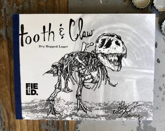 Off Color Brewing Recycled Six Pack Beer Notebook Craft beer Journal Tooth and Claw Field Museum