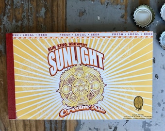 Beer Notebook Recycled Sun King Brewery Six-pack Handmade Craft Beer Journal Indianapolis, Indiana