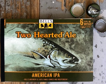Beer Notebook Recycled Bell's Two Hearted Ale Six-Pack Handmade Craft Beer Journal Kalamazoo Michigan