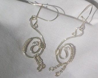 Sterling Silver Swans Earrings