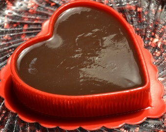 Valentine Soap - Chocolate Fudge Heart Soap - Valentine's Day Soap - AN AJSWEETSOAP EXCLUSIVE  Heart Soap - Chocolate - Fudge - Dessert