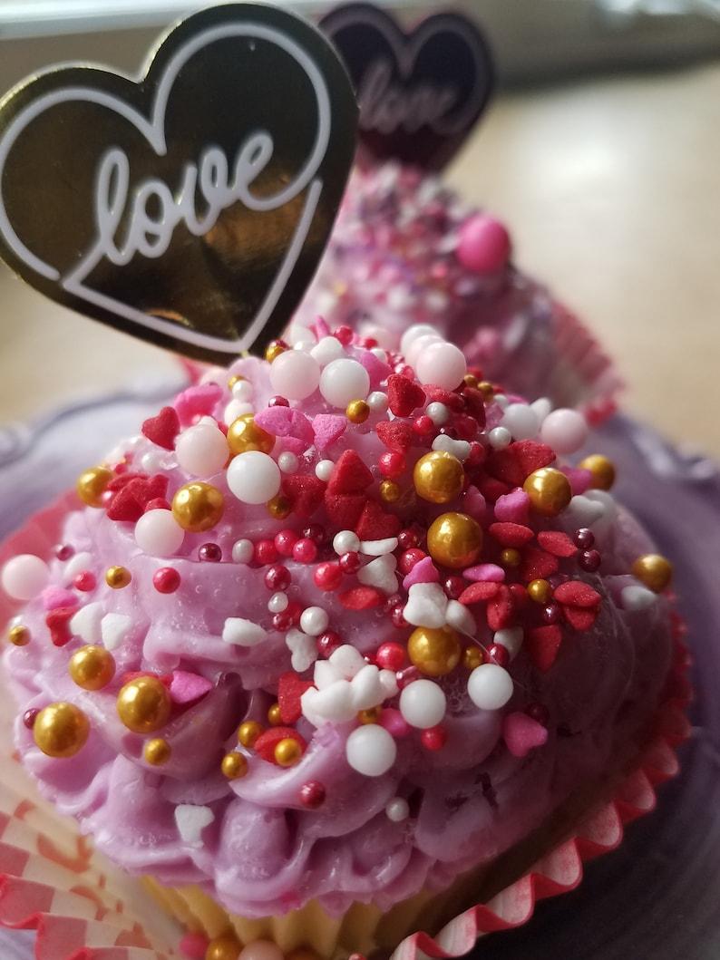 Sweet Sprinkles Cupcake Soap  Valentine  Valentines Day  image 0