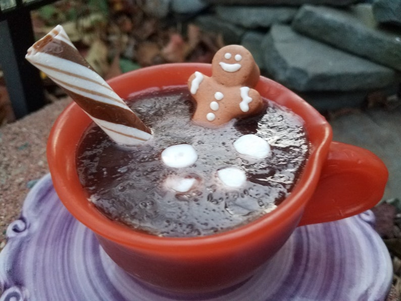 Gingerbread Hot Cocoa Soap  Hot chocolate  stocking Stuffer image 0