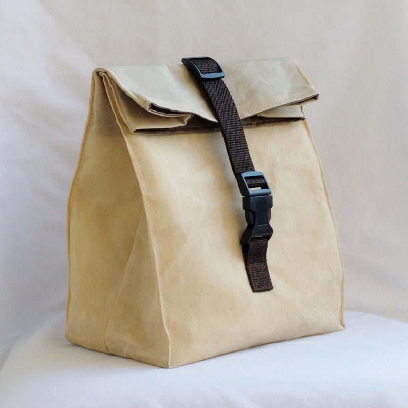 f8833b9d0cb7 Natural Waxed Canvas Lunch Bag, Brown Bag Style, Insulated Lunch Bag,  Water,Mildew Resistant Interior, Heavy Duty Lunch Bag, Men's Lunch Bag