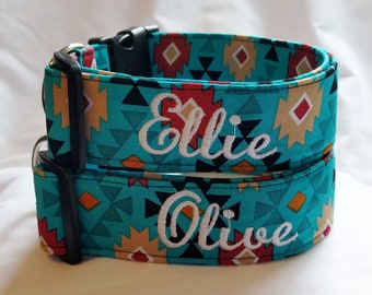 Dog Collar,Personalized Collar,Embroidered Collar,Martingale Collar,Buckle Collar,Girl Dog Collar,Boy Dog Collar,Southwest Collar