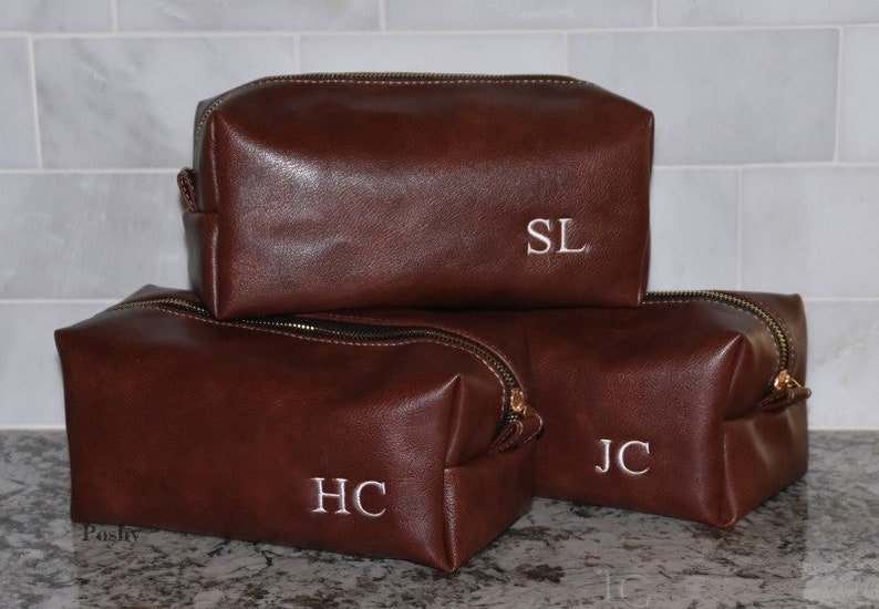e017c9fb0969 Personalized Groomsmen dopp kit Groomsmen toiletry bag Dopp