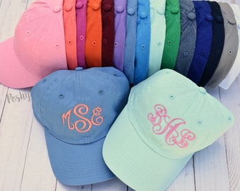 Monogram Hat, Monogrammed Baseball Hat, Womens Hat, Monogrammed Hat, Monogrammed Cap, Womens Baseball Cap, Bridesmaids hats, Bridesmaid gift